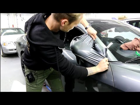 Dodge 392 Challenger Vinyl Wrap  How To Vinyl Wrap A VERY CURVED Side Mirror Part 2