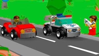 Мультики про машинки. Лего мультики -  Супер полицейский . Видео для детей.