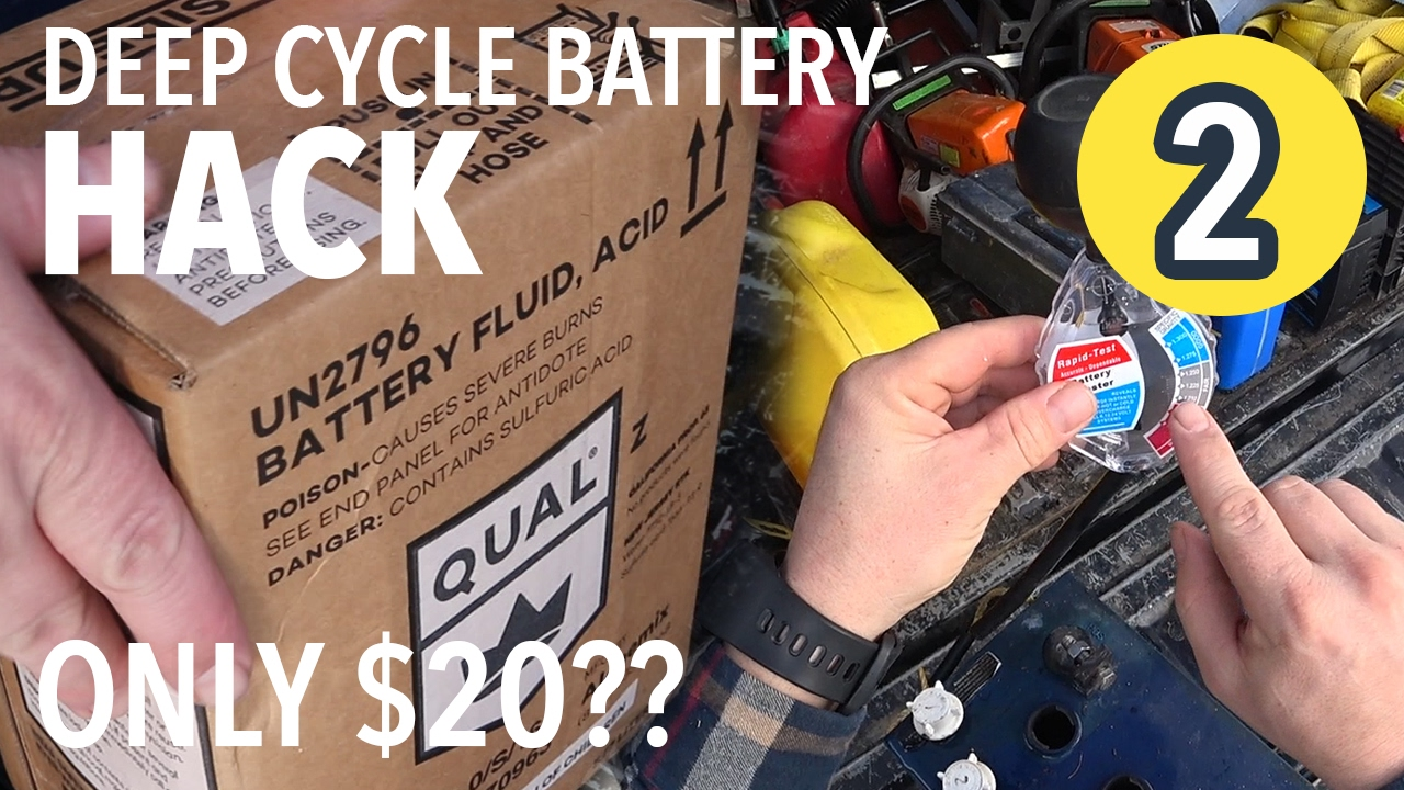 DEEP CYCLE BATTERY HACK?! Fix $400 battery for $20?! (Part 2)