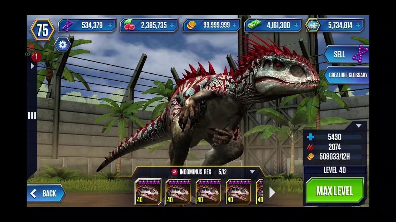 ALL HYBRIDS in Jurassic World: The Game! - (Hybrids ...