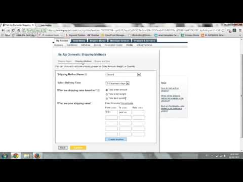 Define Shipping Rates on Paypal Standard