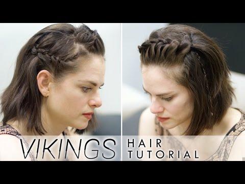 Vikings Hair Tutorial for Short Hair  featuring Amy Bailey
