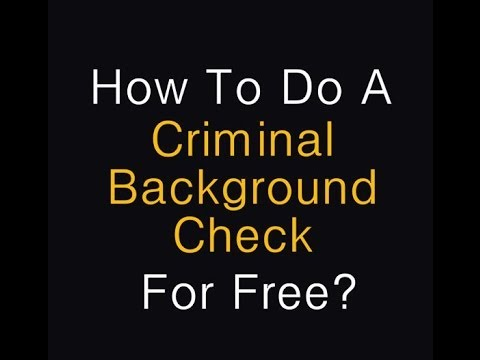 Background Check Free Criminal Record >> Free Criminal Record Check Step By Step Info Youtube