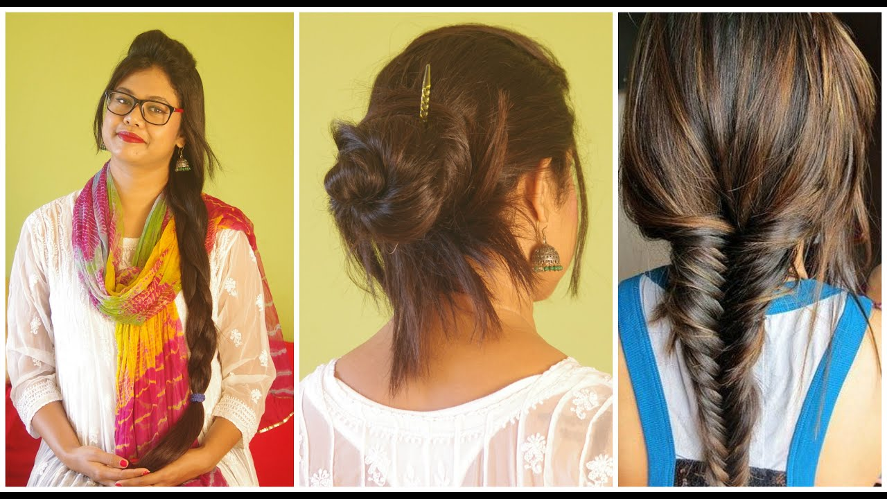 Simple Hairstyles For College 3 Everyday Hairstyles For College Work School Messy Bun Easy
