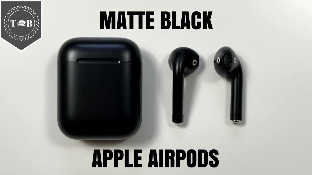 17d9de65370 BlackPods - Matte Black Apple AirPods Initial Review - YouTube