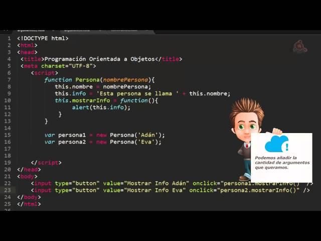 26.- Curso de JavaScript para principiantes. Pasar Argumentos a Funciones Constructor.