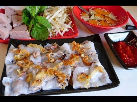 Vietnamese steamed rice rolls – Banh cuon