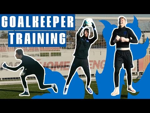 Shot Stoppers: Woodman, Gunn And Ramsdale Prepare For Italy | Goalkeeper Training | England U21