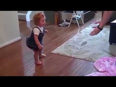 Most inspiring ::  Toddler's first steps with new prosthetic leg || Viral Video 2015