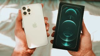 "iPhone 12 Pro ""WHITE"" UNBOXING & First Look!"