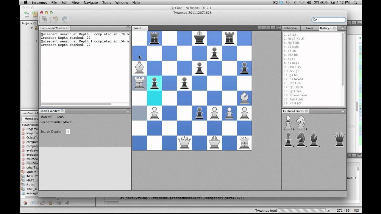Java Chess Engine - Tyrannus vs  Tyrannus