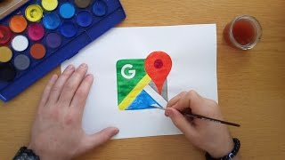 How to draw the Google Maps logo