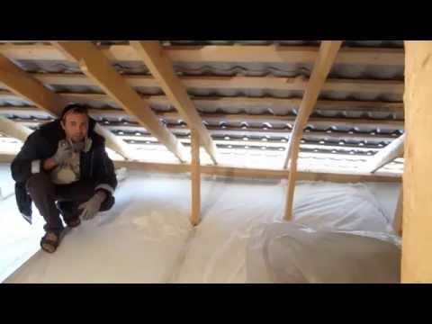 Утепление чердака. Insulating walls, attics.