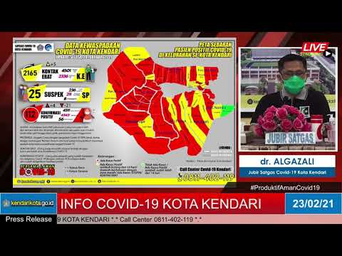 Release Data Medis Covid-19 Kota Kendari, selasa 23 Februari 2021
