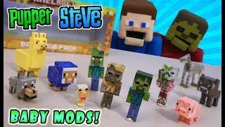 Minecraft BABIES?! BABY Mobs & Animals Packs Jazwares Action Figures Wave 3.4 Toy Unboxing