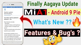Xiaomi Mi A1 Android 9 Pie Official Stable OTA Update | new features, bug's, tricks..!!!