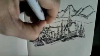 Swiss Alp Speed Sketch