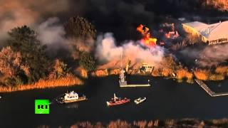Из-за лесных пожаров с американского острова Кимбелл эвакуированы все жители
