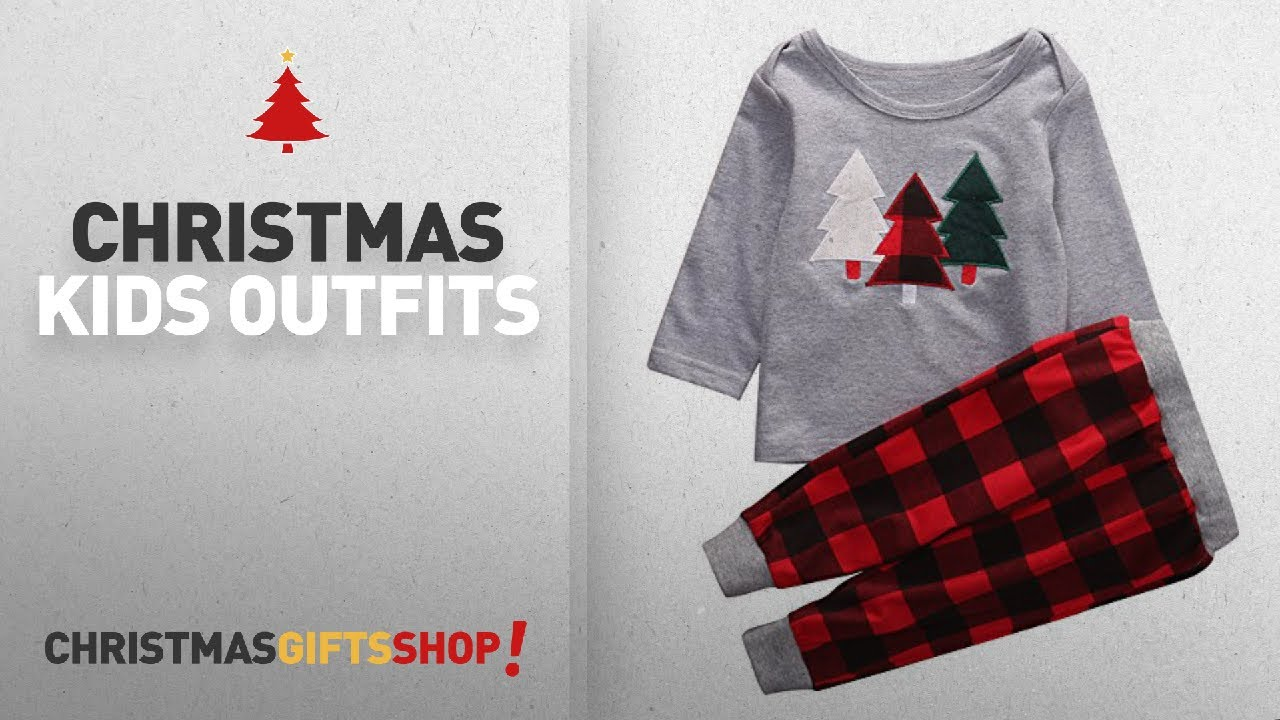 top christmas kids outfits gifts ideas 2pcs kids toddler baby girl boy christmas outfit long