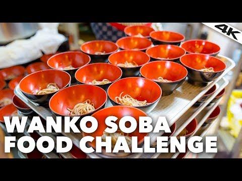Japanese WANKO SOBA CHALLENGE: 100 bowls of Noodles | Kanagawa Prefecture [4K]
