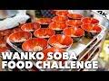 Japanese WANKO SOBA CHALLENGE: 100 bowls of Noodles   Kanagawa Prefecture [4K]