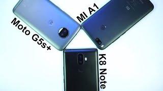 MI A1 vs Moto G5s Plus vs Lenovo K8 Note