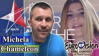 Michela - Chameleon | Malta Eurovision 2019 REACTION