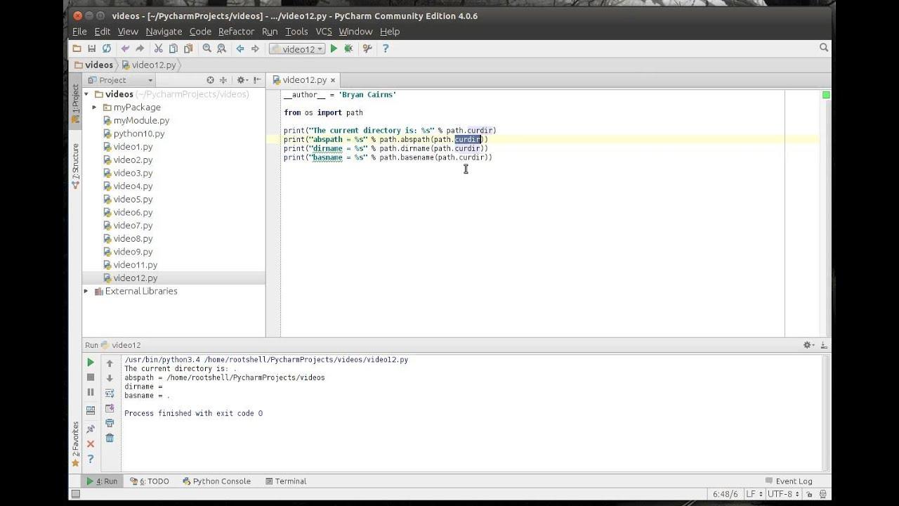 Python 12 - OS Path