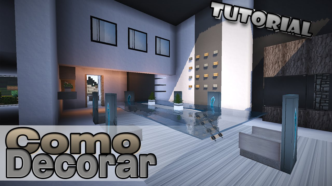 Minecraft como decorar una casa moderna comedor for Como decorar una casa moderna