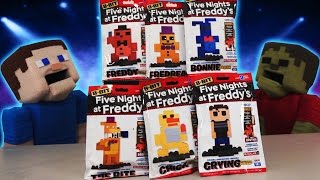 Five Nights at Freddy's Fnaf 8-Bit Series 2 McFarlane Toys Lego figures Minecraft Unboxing