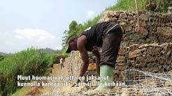 Entinen lapsisotilas opiskeli muurariksi