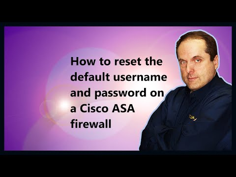 How to reset the default username and password on a Cisco ASA firewall