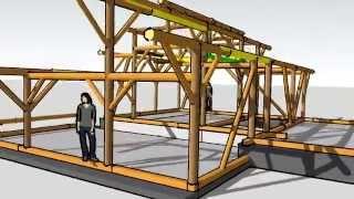 видео Технология столбовой рубки домов из кедра