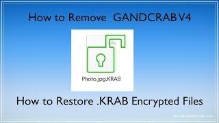 .KRAB Files Virus (GANDCRAB V4) -  How to Remove + Restore