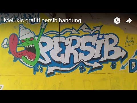 Melukis Grafiti Persib Bandung Youtube