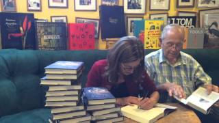 Lyn Millner signing THE ALLURE OF IMMORTALITY at Lemuria Books