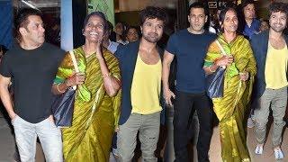 Salman Khan Grand Entry with Ranu Mondal and Himesh Reshammiya at First Song Launch in Bollywood
