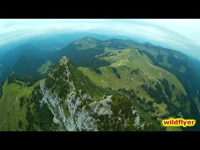 Rossstein - hiking and flying in the bavarian alps