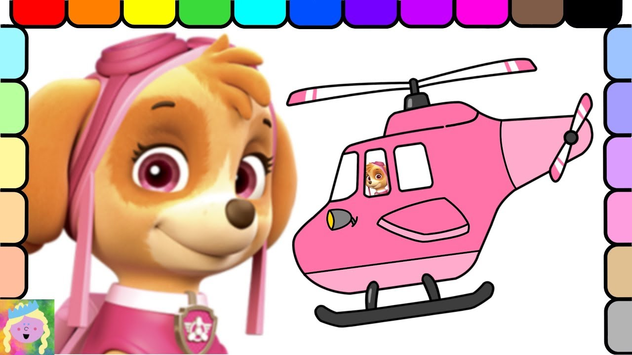 paw patrol coloring page learn colors learn names of vehicles youtube. Black Bedroom Furniture Sets. Home Design Ideas