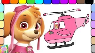 Paw Patrol Coloring Page   Learn Colors   Learn Names of Vehicles