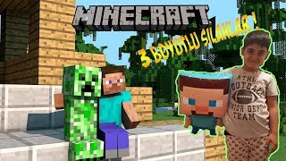 MİNECRAFT SİLAH MODU 3 D SİLAHLARI AÇTIK (Minecraft 3d guns mode)