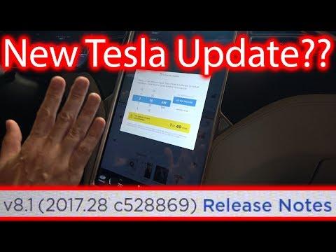Tesla Update?? V8.1(2017.28 c528869) Weird Version..