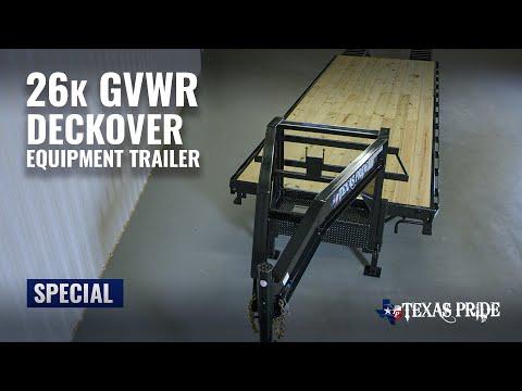 Walk Around: 26K Gooseneck Flatbed Equipment Trailer | Special | Texas Pride Trailers