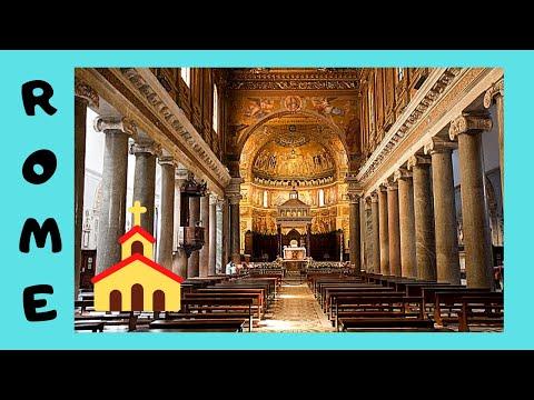 ROME, the 1ST CHRISTIAN CHURCH (3rd century), BASILICA of SANTA MARIA in TRASTEVERE