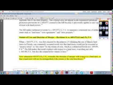 Florida Land Trust Bill Analysis