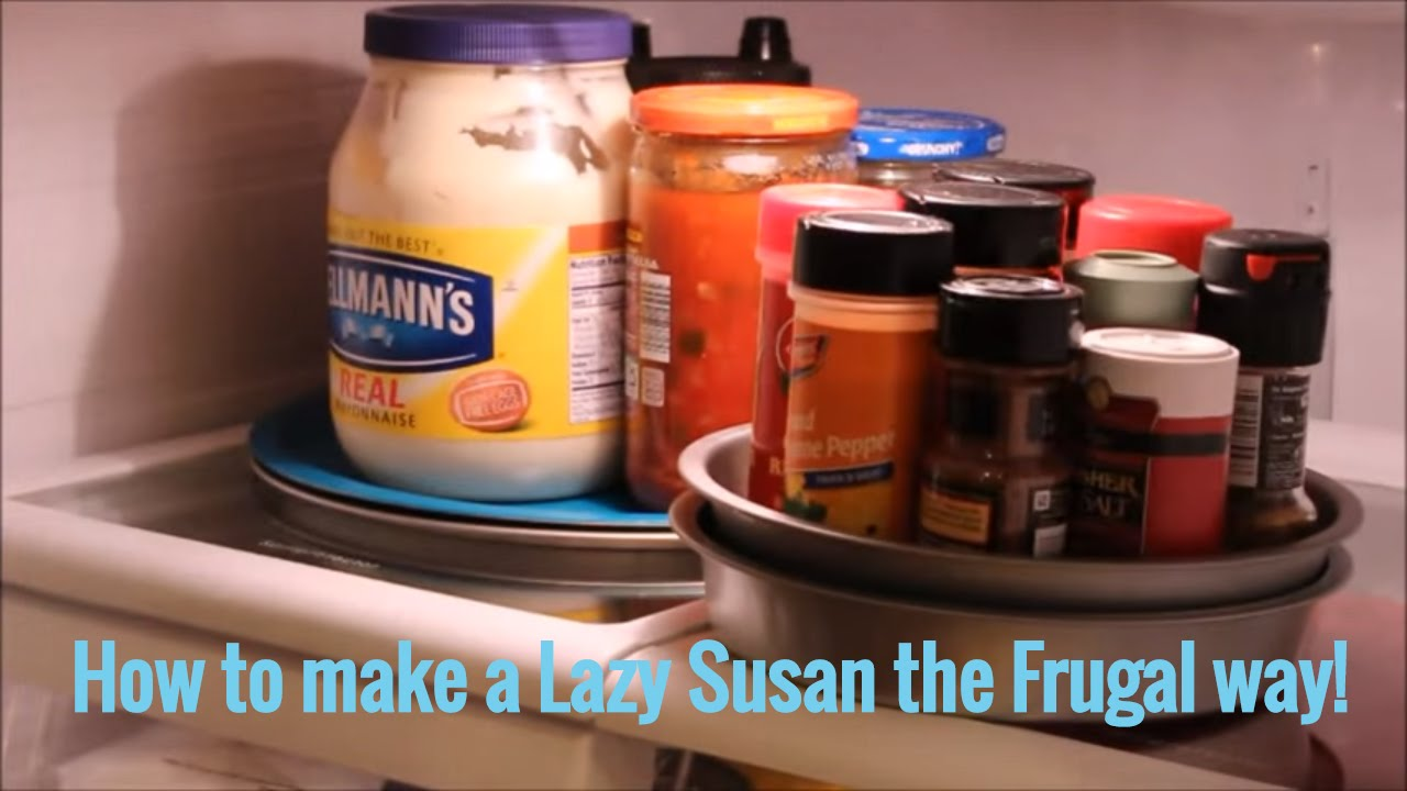 diy rotating lazy susan the frugal way on the cheap tip youtube
