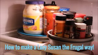 How To Make A Lazy Susan (in My Case For The Fridge)