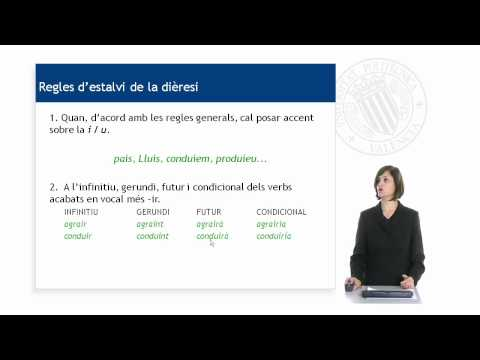 La dièresi | MOOC Valencià: nivell C1 (3-55)  | UPV