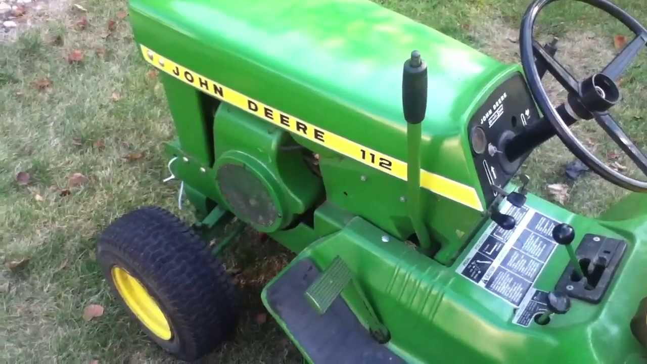 1968 John Deere 112 Cold Start And Drive