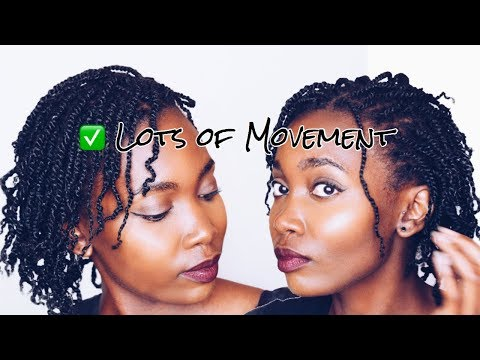 FRIZZ FREE MINI TWISTS ON TYPE 4 NATURAL HAIR | PROTECTIVE STYLE | AFRICAN YOUTUBER BOTSWANA